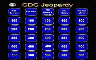 Main Jeopardy Screen